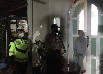 Tampak sejumlah personel Polres Natuna sedang melaksanakan patroli gabungan.