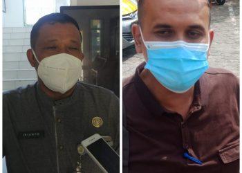 Foto klose Kadisdukcapil Kota Tanjungpinang, Irianto (kiri) dan Dirut BUMD Tanjungpinang, Fahmi (kanan) foto : Alam/detak.media
