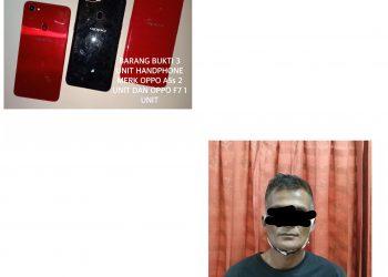 Pelaku dan barang bukti hasil pencurian, F : Ist