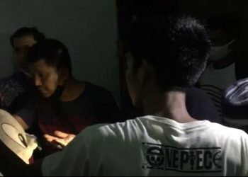 Pelaku pada saat diamankan oleh Satresnarkoba Polres Tanjungpinang, f : ist