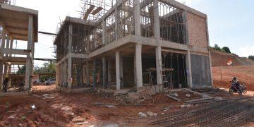 Tahap 2 Proses Pengerjaan Pembangunan Qur'an Center Bukit Manuk Di Senggarang Kota Tanjungpinang.