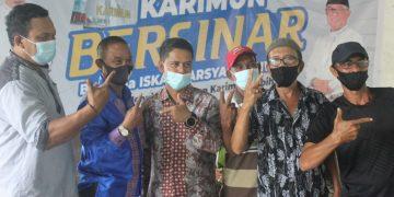 Paslon BERSINAR (Bersama Iskandar-Anwar) bersama pendukung, f : ist