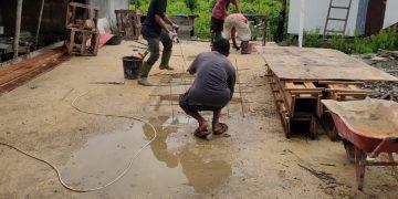 Proses Pengerjaan Pembuatan Saluran Pembuangan Air Limbah Di Kampung Bugis