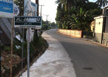 Finishing Pengerjaan Rehabilitasi Pemeliharaan Bahu Jalan Jl. Jatayu Kel Batu IX.