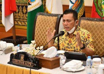 Gubernur Kepri saat memimpin Rapat persiapan vaksinasi untuk ibu hamil di Gedung Daerah Tanjungpinang, Kepri, f : ist