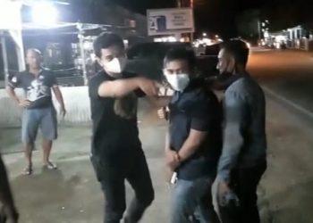 Oknum pegawai Kejari Tanjungpinang dan Bintan saat diamankan oleh Pihak Kejati Kepri, f : ist