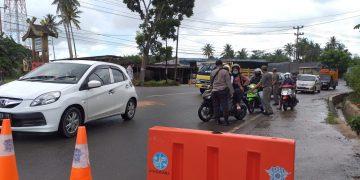 Pos Penyekatan PPKM Darurat perbatasan Tanjungpinang-Bintan, KM 15, f : Mael/detak.media