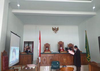 Suasana sidang vonis terdakwa narkoba di PN Tanjungpinang, f : Mael/Detak.media