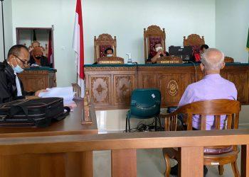 Suasana sidang tuntutan terdakwa Nguan Seng di PN Tanjungpinang, f : Mael/detak.media