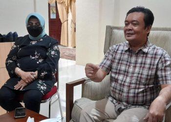 Walikota Tanjungpinang, Rahma bersama suami saat berada di Rumah Dinas di Senggarang, f : Alamsyah/detak.media