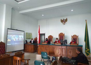 Sidang tuntutan yang dilaksanakan di PN Tanjungpinang, f : Mael/detak.media
