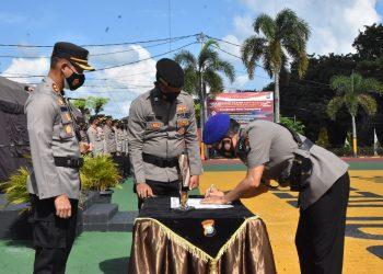 Serah terima jabatan Kasat Polair Polres Tanjungpinang, f : ist