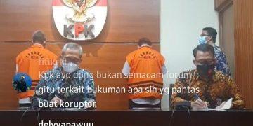 Siaran Langsung Konfrensi pers KPK terkait penahanan Bupati Bintan, Apri Sujadi dan Kepala BP Kawasan Bintan, M. Saleh Umar, f : tangkapan layar/Alam/detak.media.