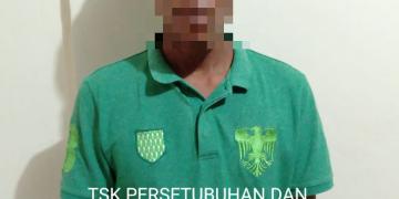 Pelaku JN yang diamankan Satreskrim Polres Tanjungpinang, f : ist