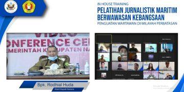 CAPTION FOTO: Wakil Bupati Natuna, Rodhial Huda saat menyampaikan paparannya sebagai keynote speaker.