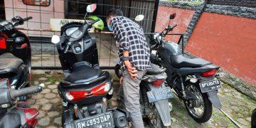 Motor NMAX milik pelaku pembunuhan yang diamankan Satreskrim Polres Tanjungpinang, f : Mael/detak.media