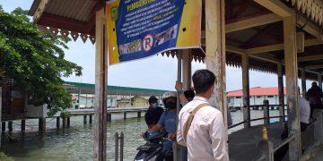 Suasana pintu masuk area Dermaga Pelantar Kuning Tanjungpinang, f : Mael/Detak.media